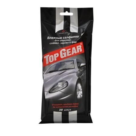 Купить Набор салфеток влажных очищающих для стекол, фар и зеркал Авангард TG-48038 Top Gear