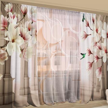 Купить Фотокомплект: тюль и шторы ТамиТекс «Мечтательный взгляд»