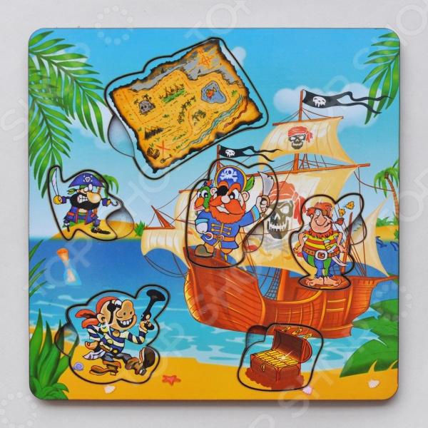Игра развивающая Мастер игрушек «Рамка-вкладка: Пираты с картой»