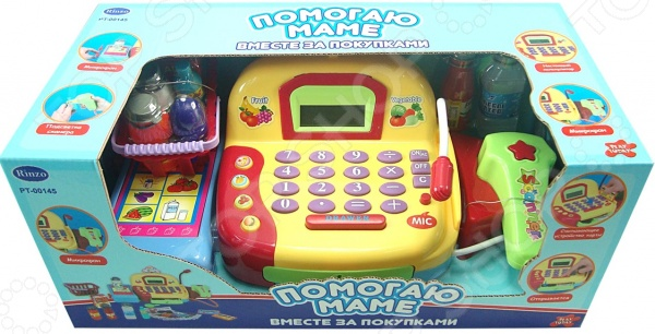 Касса игрушечная ABtoys с продуктами и аксессуарами «Помогаю маме»