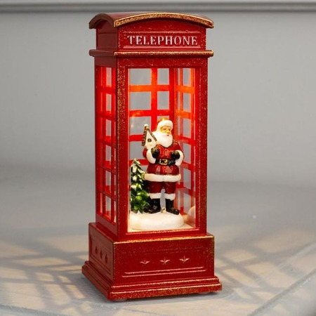 Купить Фигура декоративная световая Luazon Lighting «Дед Мороз в телефонной будке»