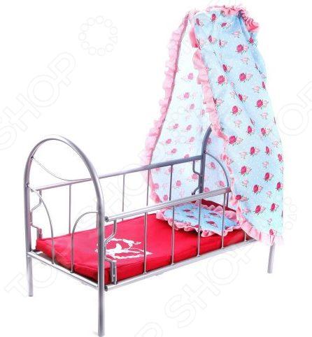 Кроватка для кукол Mary Poppins с балдахином Lady Mary кукольная кроватка с балдахином melobo 9350e