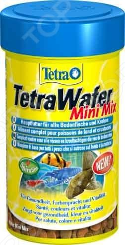Корм для донных рыб и ракообразных Tetra Wafer Mini Mix корм tetra tetramin xl flakes complete food for larger tropical fish крупные хлопья для больших тропических рыб 10л 769946