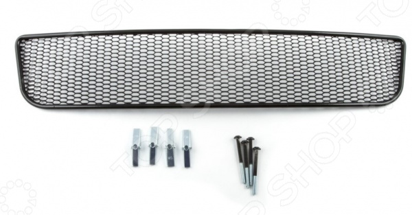 Сетка на бампер внешняя Arbori Soty для Ford Focus III, 2011-2015. Цвет: черный сетка на бампер внешняя arbori soty для ford mondeo 2015