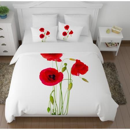 Купить Комплект постельного белья Сирень «Выразительные маки»