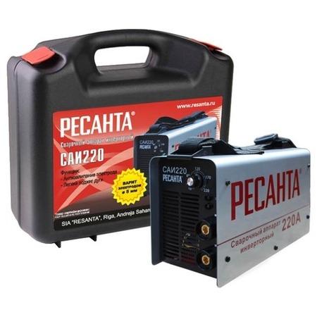 Купить Сварочный аппарат инверторный в кейсе Ресанта САИ 220