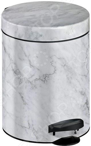Фото - Ведро для мусора Meliconi «Мрамор» ведро для мусора meliconi мрамор 5 л белый