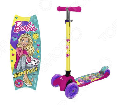 Самокат четырехколесный Navigator Barbie цена