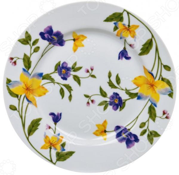 Тарелка десертная Дулевский Фарфор «Луговые цветы»