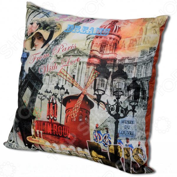 Подушка декоративная Gift'n'Home «Парижские фантазии»