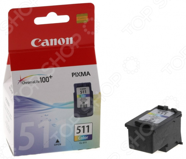 Картридж струйный Canon CL-511 картридж canon cl 511 color для mp240 mp250 mp260 mp270 mp490 mx320 mx330 2972b007