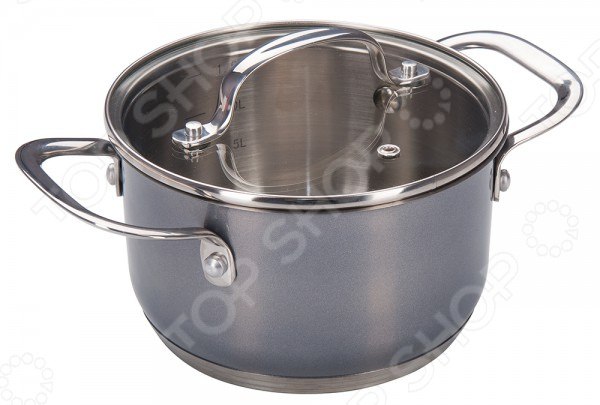 Кастрюля Regent Aura кастрюля regent inox посуда из нержавеющей стали aura 24 см 6 1 л со стеклянной крышкой