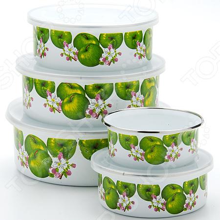 Набор эмалированных контейнеров «Яблоко». 5 предметов