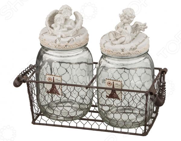 Набор банок для сыпучих продуктов «Ангелы» gift planet набор банок для сыпучих продуктов прованс из 4 х шт 13231