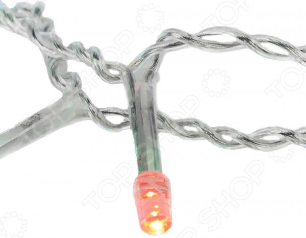 Гирлянда светодиодная Neon-Night прозрачная «Айсикл бахрома». Размер: 2,4х0,6 м