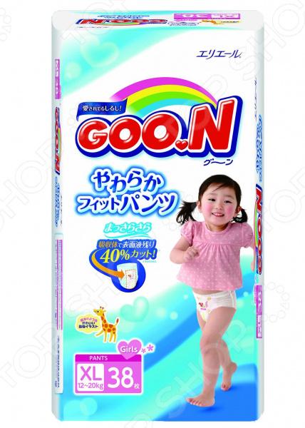 Трусики-подгузники для девочек Goon Big (12-20 кг)