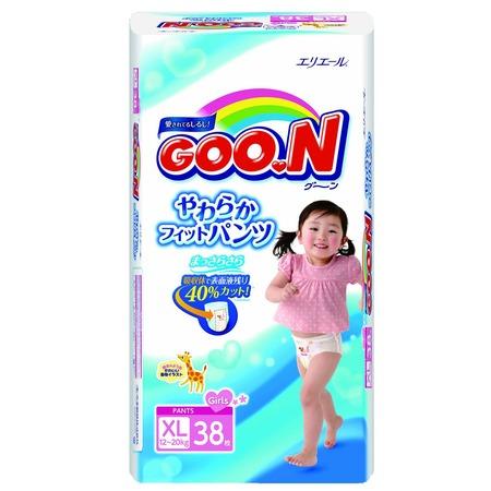Купить Трусики-подгузники для девочек Goon Big (12-20 кг)