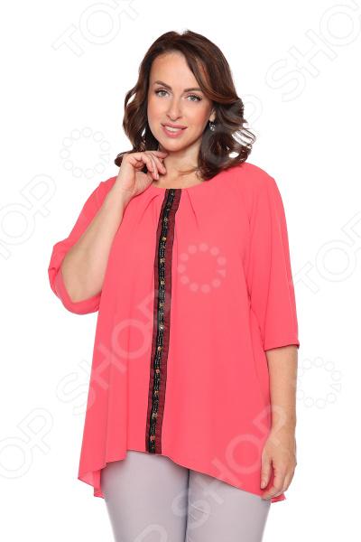 Блуза «Колорит». Цвет: розовый