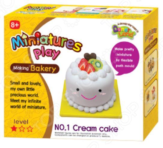 Набор для лепки Doner Land Miniatures Play «Кремовый торт» всё для лепки miniatures play набор для лепки кремовый торт