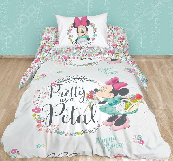 Детский комплект постельного белья Minnie Mouse. Pretty As A Petal