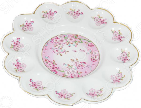 Менажница для яиц Elan Gallery «Сакура» блюда elan gallery тарелка для фаршированных яиц сакура