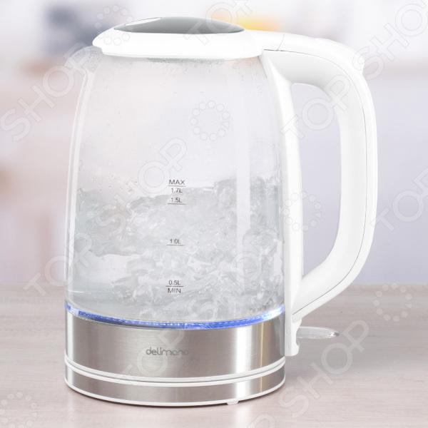 Электрический чайник из термостойкого стекла Delimano «Джой»