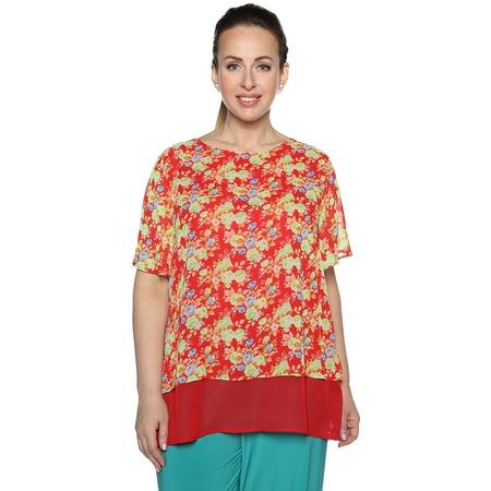 Купить Блуза Blagof Блуза «Бабочка». Цвет: красный
