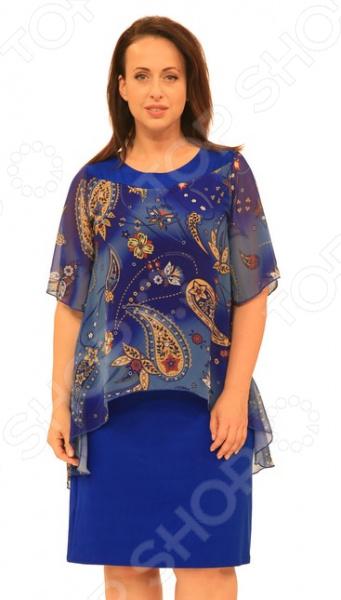 Платье Матекс «Лазурный берег». Цвет: васильковый  туника матекс донна цвет васильковый