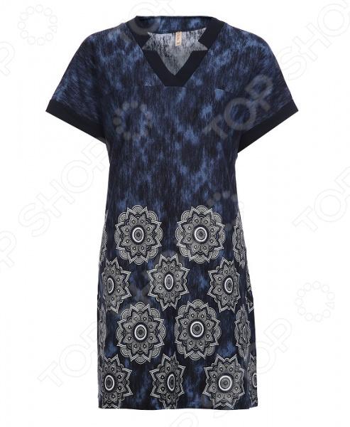 Туника El Fa Mei «Основной инстинкт». Цвет: синий блуза el fa mei искрометный танец цвет темно синий