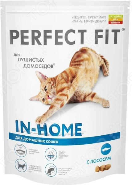 Корм сухой для домашних кошек Perfect Fit In-Home rich in Salmon