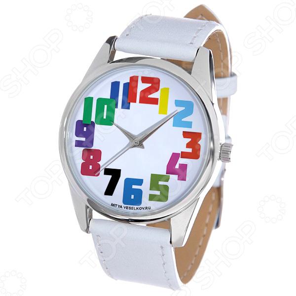 Часы наручные Mitya Veselkov «Цветные числа»