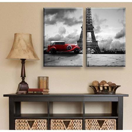 Купить Картина 2-модульная ТамиТекс «Красная машина»
