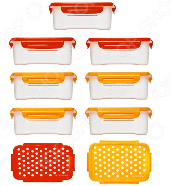 Набор контейнеров для СВЧ Полимербыт «Горох»