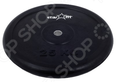 Диск обрезиненный Star Fit BB-202 диск пластиковый star fit bb 20 d 26 мм черный 1кг