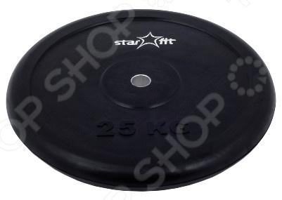 Диск обрезиненный Star Fit BB-202 диск обрезиненный d26мм star fit bb 202 0 5 25кг