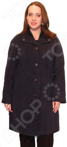 Пальто Klimini Маргарэт. Цвет: темно-синий