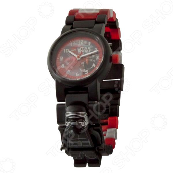 Часы наручные детские LEGO с минифигурой Kylo Ren на ремешке часы наручные lego часы наручные аналоговые lego star wars с минифигурой darth vader на ремешке