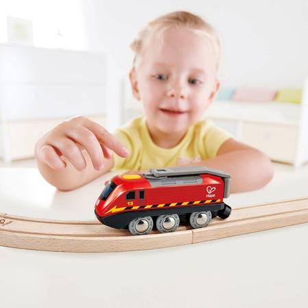 Купить Игрушка развивающая для малыша Hape «Поезд с коленчатым приводом»