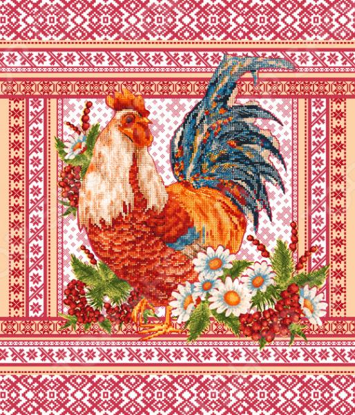 Полотенце вафельное ТексДизайн «Фольклор» полотенце для кухни арти м джинсовое сердце