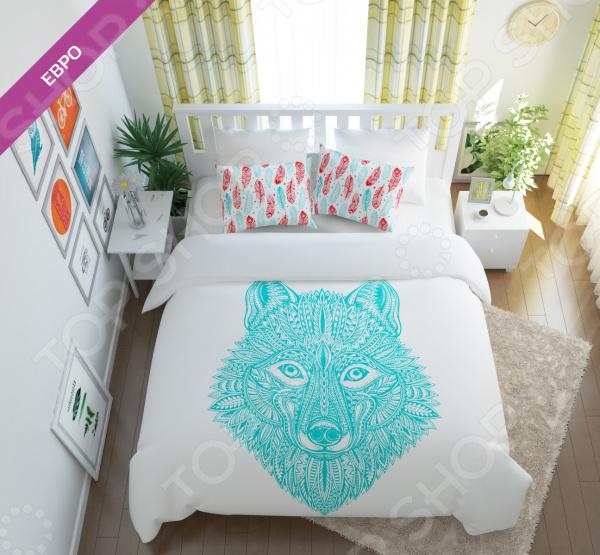 Комплект постельного белья Сирень «Волк»