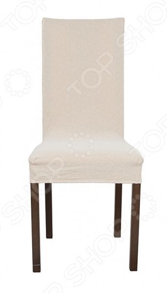 чехлы для мебели еврочехол еврочехол на сиденье стула 2 шт мадрид шоколадный Натяжной чехол на стул Еврочехол «Рикамо»