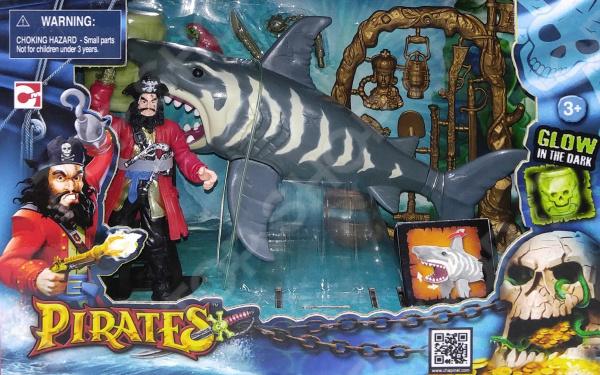 Набор игровой Chap Mei «Пираты. Нападение акулы» игровой набор chap mei пираты нападение акулы 505210 1