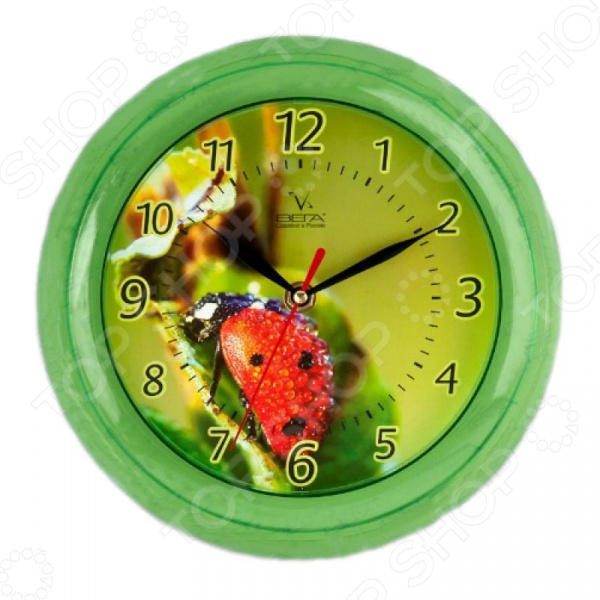 Часы настенные Вега П 6-3-2 «Божья коровка» настенные часы mikhail moskvin сирена круг 6 2