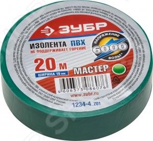 Изолента Зубр Мастер 1234 z01 специально предназначена для электроизоляции и проведения различных ремонтных и монтажных работ. Ленту также можно использовать для изоляции проводов, напряжение которых составляет не большее 6000 В, для монтажа и фиксации различных материалов, крепежа упаковки. Благодаря тому, что изолента выполнена из мягкого поливинилхлорида, она отличается удивительной устойчивостью к горению и увеличенным сроком эксплуатации. Клейкая каучуковая основа обеспечивает надежное крепление ленты на различных поверхностях. Изоленту также можно использовать в условиях повешенной кислотности.