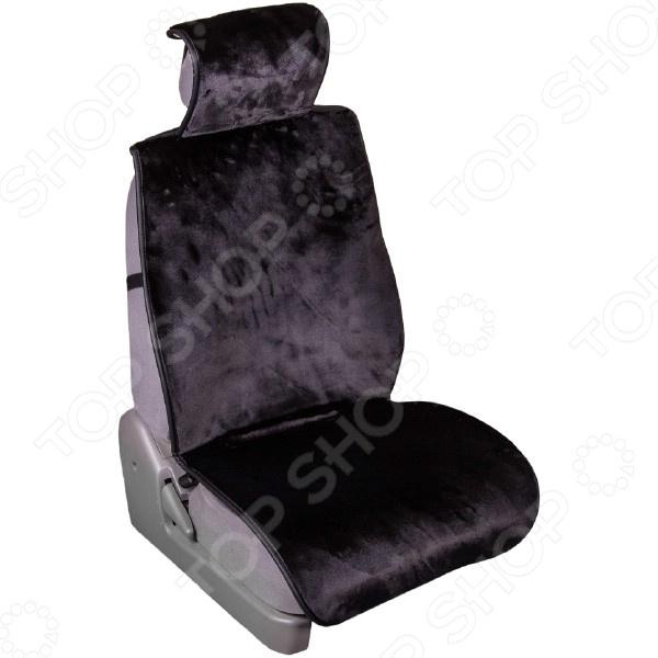 Комплект из 5-ти меховых накидок на сиденье в салон автомобиля SKYWAY Arctic «Мутон» 108