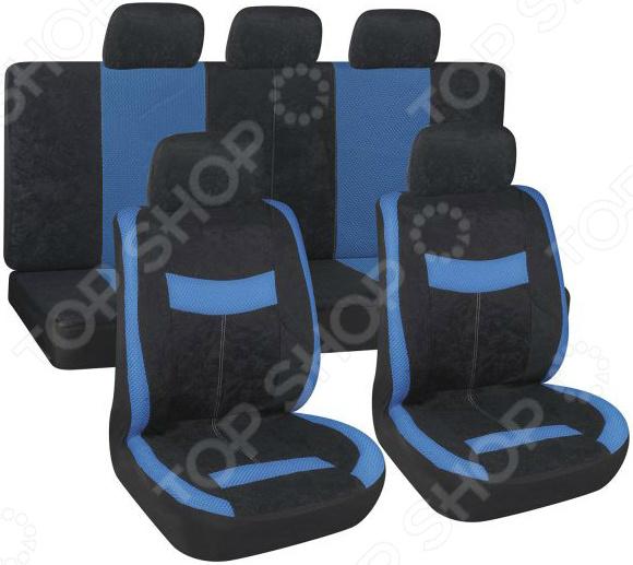 Набор чехлов для сидений SKYWAY Forsage «2 толстые полоски» чехол на сиденье skyway chevrolet cobalt седан ch2 2