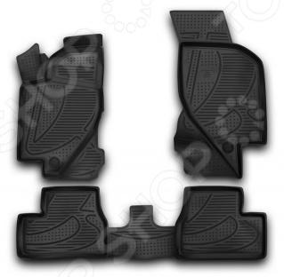 Комплект 3D ковриков в салон автомобиля Novline-Autofamily LADA Kalina 2004