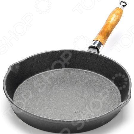 Сковорода Mayer&Boch с деревянной ручкой сковорода чугун с деревянной ручкой 30см