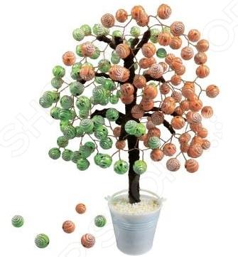 Набор для детского творчества Азбука тойс «Дерево из бусин: Фруктовый микс» набор для плетения lori брелоки совушка из бусин от 7 лет бус 034