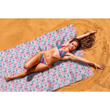 Купить Покрывало пляжное Сирень «Акварельное море»
